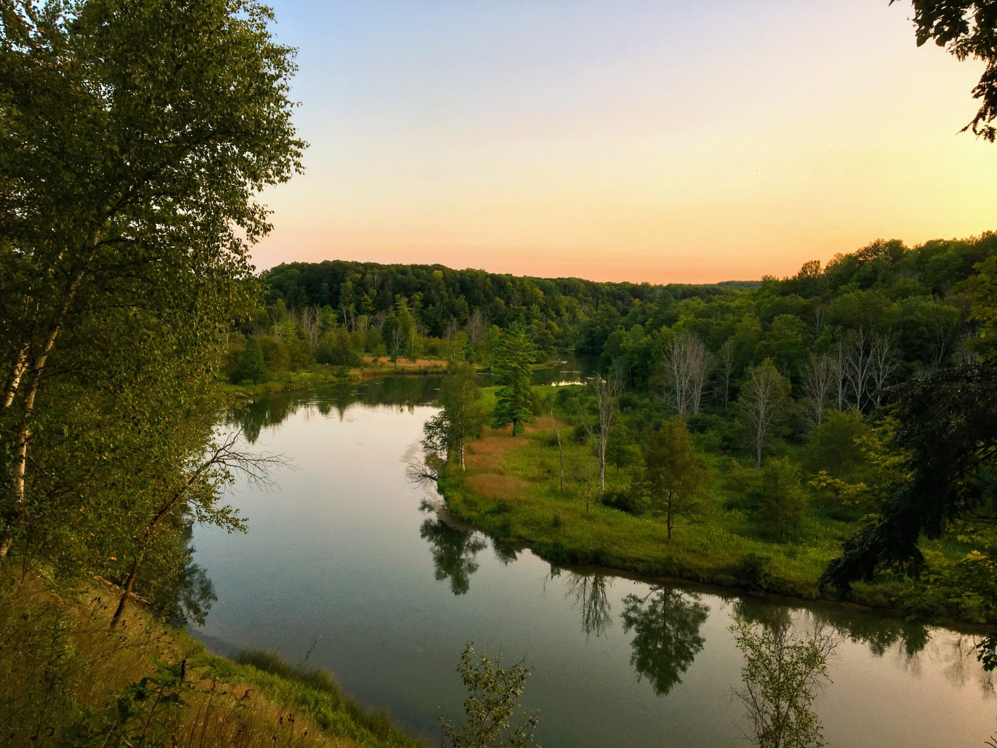 View from Site 10A & 10B - Manistee River Trail