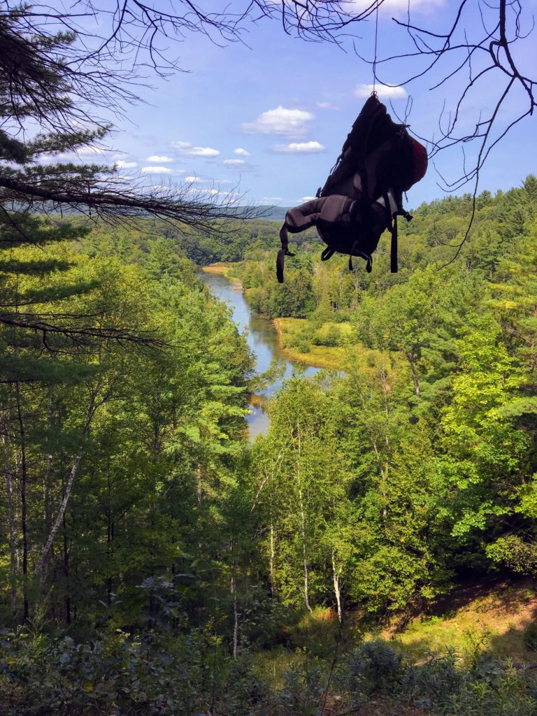 View from Campsites 7B & 7C - Manistee River Trail