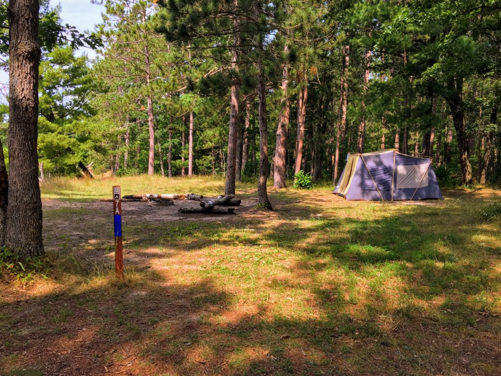 Campsite 7A - Manistee River Trail