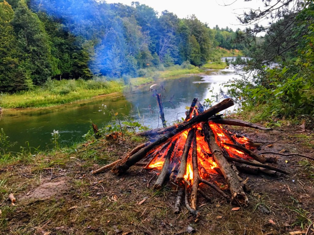 Campfire - Manistee River Trail