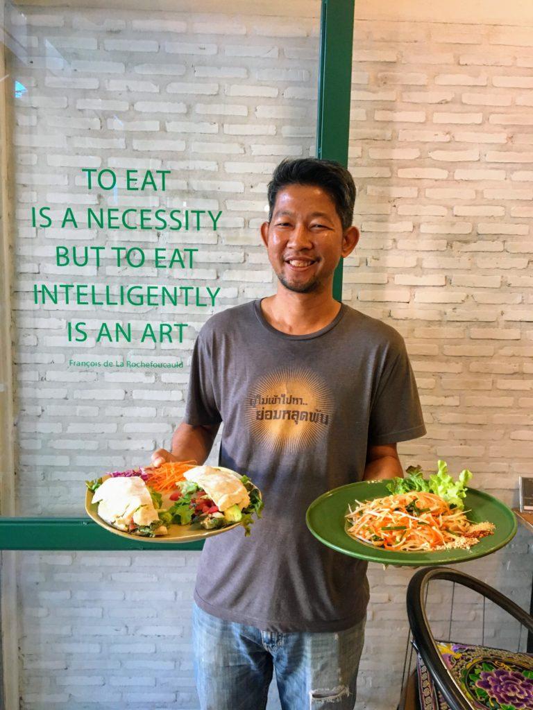 Imm Aim Vegetarian and Bike Cafe, Chiang Mai, Thailand