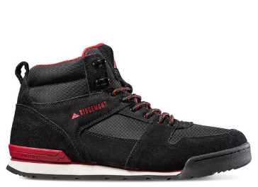 Monty High Oiled Suede & Nylon - Black/Burgundy