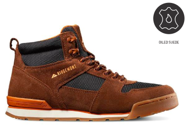 Monty High Oiled Suede & Nylon - Brown/Orange