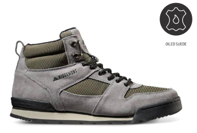 Monty Hi Oiled Suede & Nylon - Gray/Olive