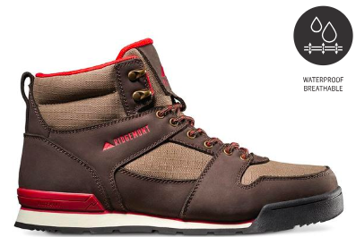 Best hiking boot for Everglades National Park - Monty Hi Jave/Red Nubuck leather and 100% Sympatex waterproof and breathable liner