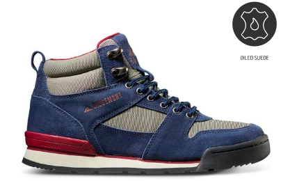 Monty Hi Oiled Suede & Nylon - Navy/Smoke