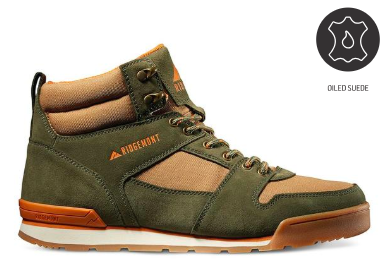 Monty Hi Oiled Suede & Nylon - Olive/Tobacco