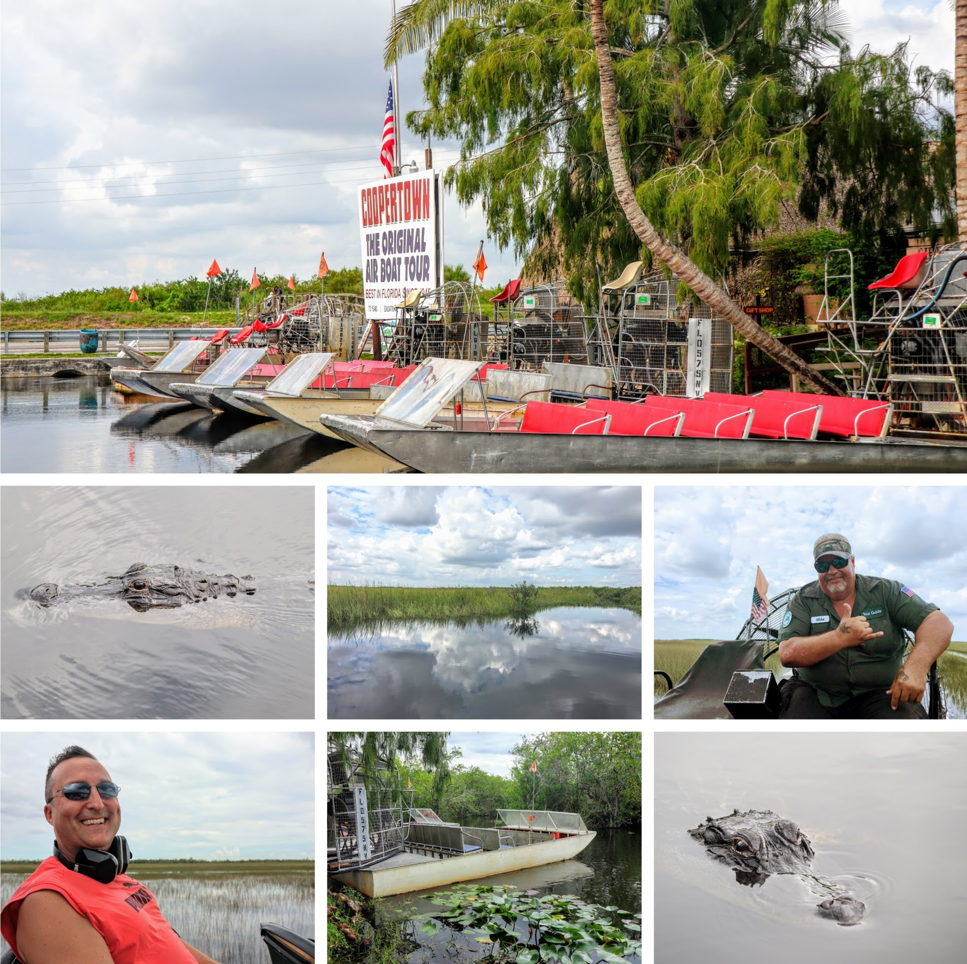 Collage of Coopertown Airboat Tour - Everglades National Park