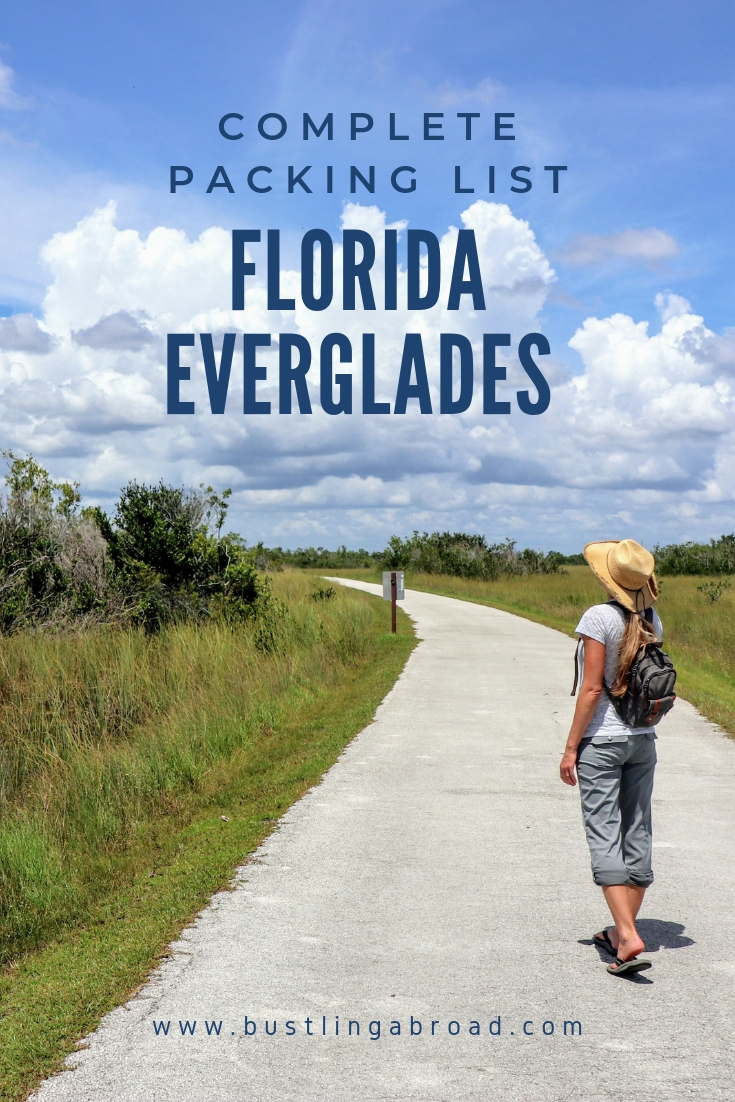 Pinterest Graphic Complete Packing List Florida Everglades